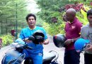 Sachin Tendulkar and Brian Lara go for a ride on a scooter  Wear Helmet   Road Safety World Series