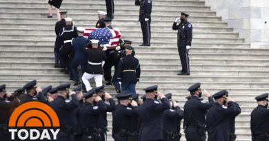 Slain Police Officer Evans Lies In Honor In Capitol Rotunda | TODAY